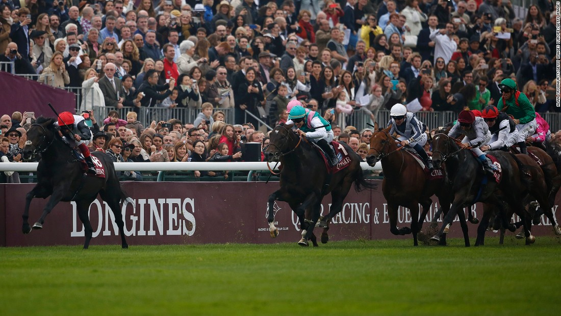 The golden duo combined to win the prestigious Prix De L'Arc De Triomphe at Longchamp racecourse in Paris in October.
