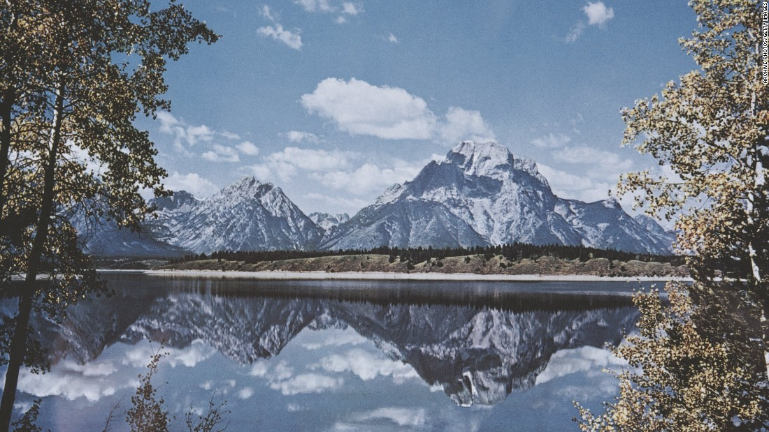 Pictured are Jackson Lake and Mount Moran in Grand Teton National Park, Wyoming.