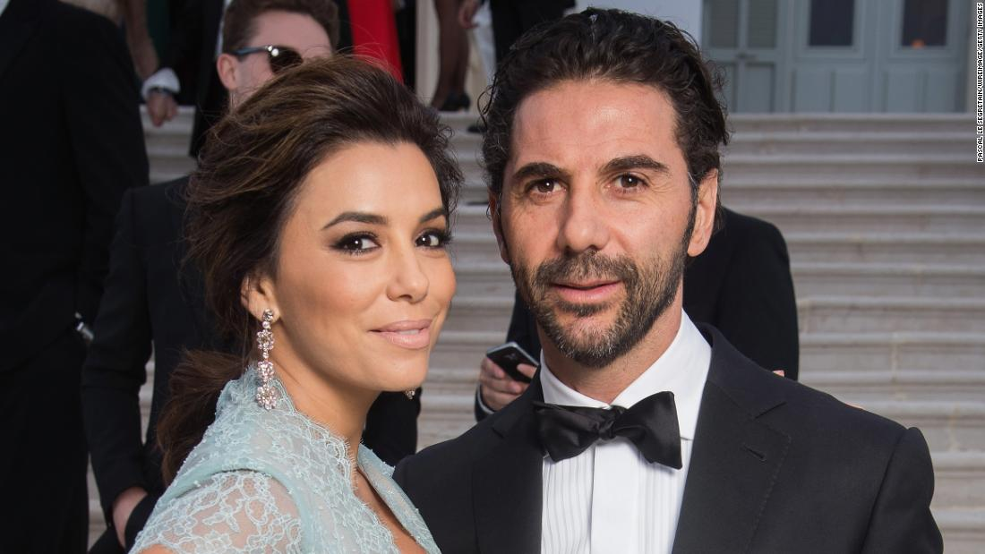 "Eva Longoria announced Sunday, December 13, that she and boyfriend Jose Antonio Baston had become engaged in Dubai. The actress <a href=""https://pbs.twimg.com/media/CWHeRVTWsAAVix6.jpg:large"" target=""_blank"">posted a photo</a> of herself kissing Baston, the president of Televisa media company, against a desert backdrop."