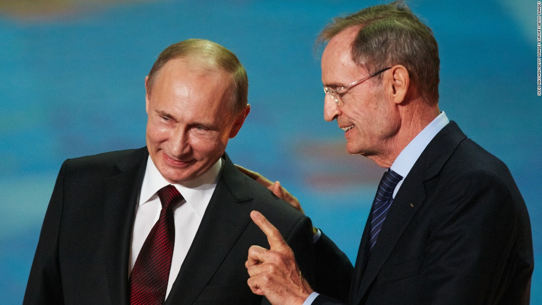 Putin and Killy met dozens of times ahead of the Sochi Games.