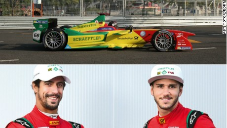 Di Grassi (left) has started the new season strongly and leads the drivers' championship after two races.