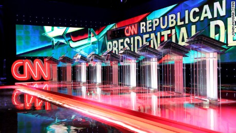 Backstage at the CNN GOP debate