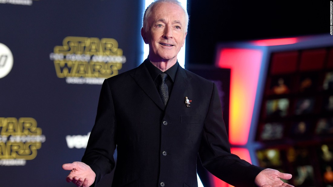 "British actor Anthony Daniels has climbed into a robot costume to play C-3PO in all seven ""Star Wars"" movies."