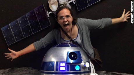 Keri Bean, pictured with Dawn and a friend's R2-D2 droid.