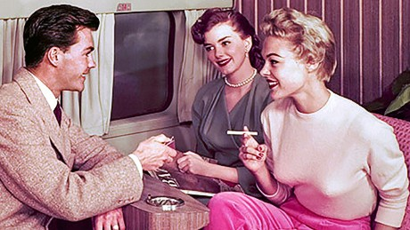 'Mad Men' meets 'Airplane!': Vintage photos show aviation's golden age