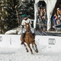 snow polo riders charge