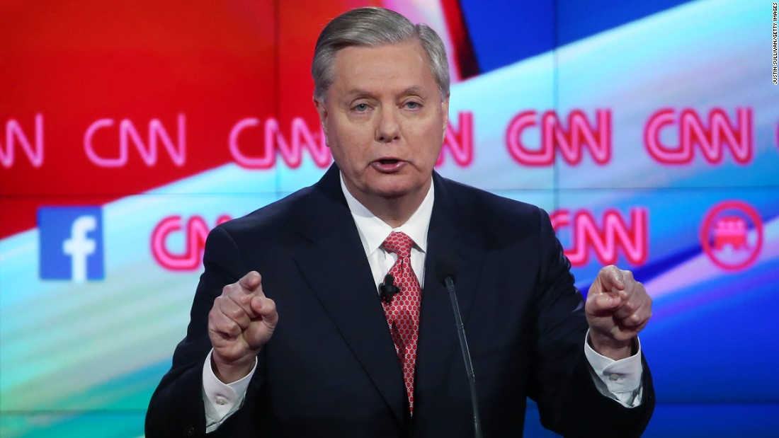 "Graham has served South Carolina in Congress since 1995. He continued his tough talk on the threat of terrorism. ""If I'm President of the United States, and you join ISIL, you are going to get killed or captured,"" he said. ""And the last thing you are going to hear if I'm President is, 'You've got a right to remain silent.' """