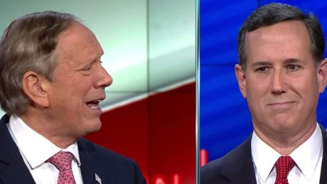 Rick Santorum George Pataki cnn gop debate women combat military 8_00020310