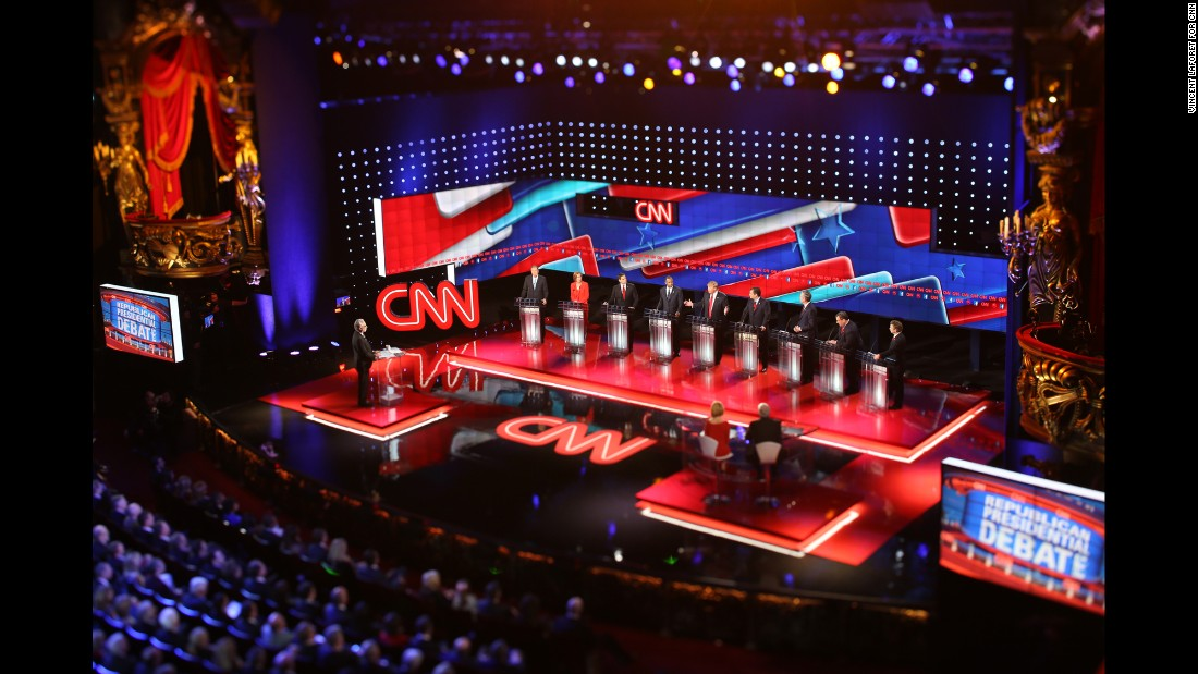 Before the debate, as CNN crews set up the stage, Laforet and a team of three crawled catwalks, arranged remote-controlled cameras, ran wires and tested exposure.