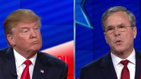 donald trump jeb bush cnn gop debate sot _00011919