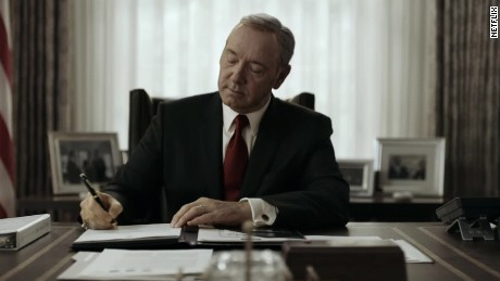 Spacey: Underwood would shove Trump