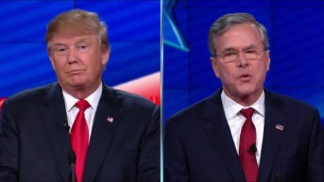 Highlights from the Trump/Bush splitscreen