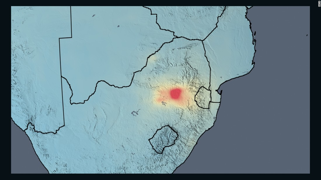 Average nitrogen dioxide concentrations in South Africa in 2014. According to the researchers, the Johannesburg-Pretoria metro area saw decreases after new cars were required in 2008 to have better emissions controls. The heavily industrialized area just east of the cities, however, shows both decreases and increases. <br /><br />The decreases may be associated with fewer emissions from eight large power plants east of the cities since the decrease occurs over their locations. However, emissions increases occur from various other mining and industrial activities to the south and further east.