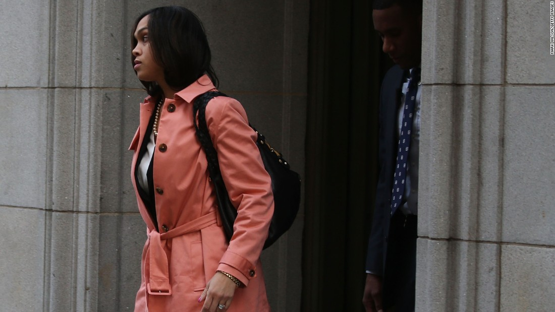 Baltimore City State Attorney Marilyn Mosby leaves the courthouse on December 16. Prosecutors will decide whether to retry the case.