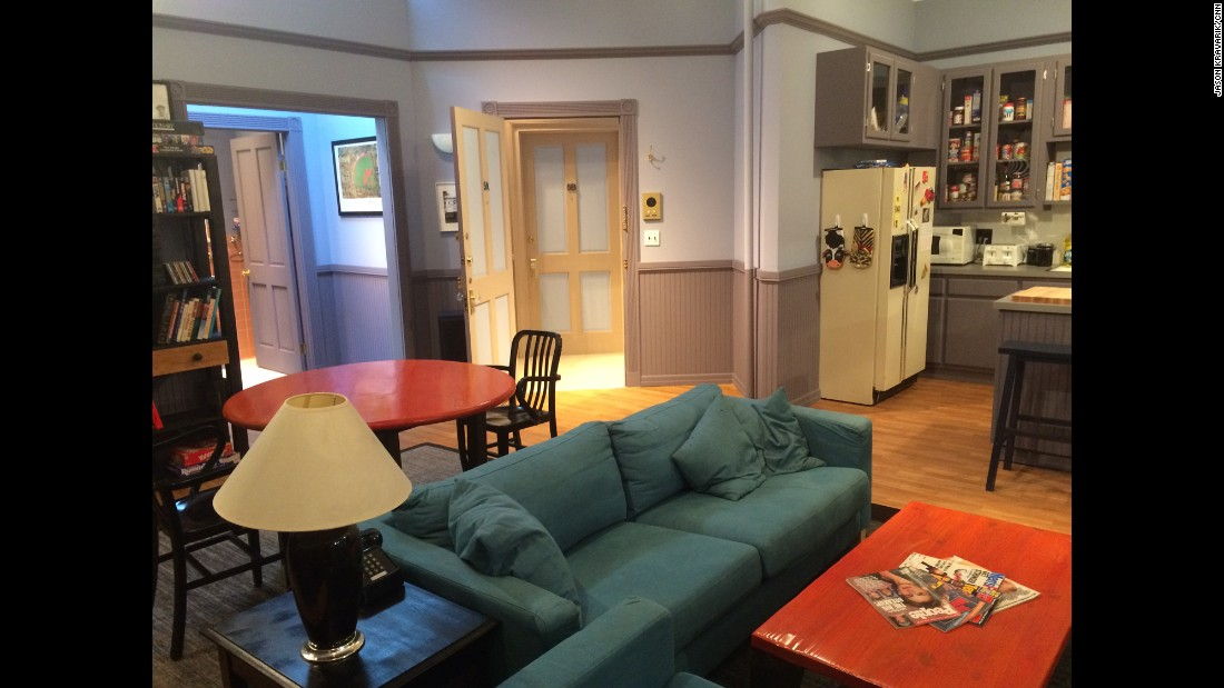 "A re-creation of Jerry Seinfeld's TV apartment is on display at the ""Seinfeld"" fan experience in West Hollywood through Sunday."