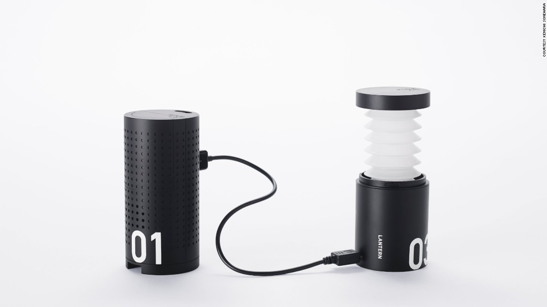 The kit also includes a portable USB charger and a lamp.