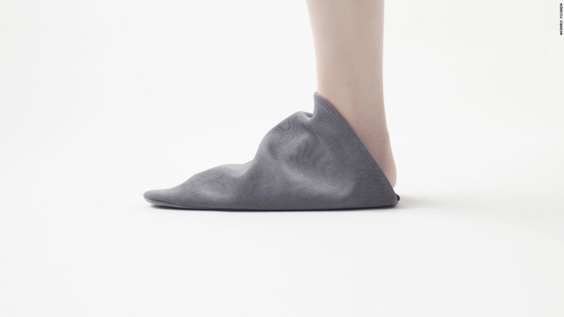 Earlier this year, Nendo released the Triangle Roomshoes, to be worn as slippers at home. The shoes can be turned on their side and stacked on top of one another.