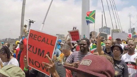 Protesters call for Zuma to step down