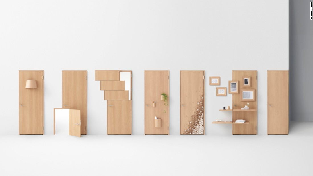 "Nendo is a playful design house based in Tokyo, Japan. The company is led by designer Oki Sato, who is known for breaking design conventions of everyday objects. This is Nendo's ""Seven Doors"" series, which reinterprets a standard door to include sliding portions."