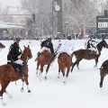 snow polo aspen field
