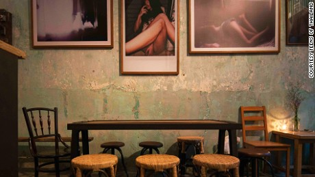 Sensual photography on the walls spices up the energy of Teens of Thailand.