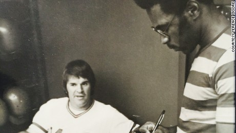 After Terence Moore graduated from Miami (Ohio) University and became a sports journalist for The Cincinnati Enquirer, his first interview was Pete Rose in May 1978 at Cincinnati's Riverfront Stadium.