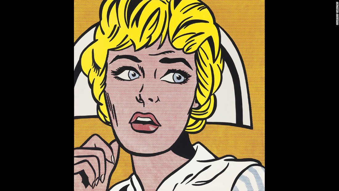 "Christie's billed pop artist Roy Lichtenstein's nurse as the ""quintessential Lichtenstein heroine,""  a ""femme fatale,"" and called the painting itself a ""dazzling masterpiece.""  Collectors must have been convinced, bidding the work up to a record price for the artist at $95,365,000 in November 2015."