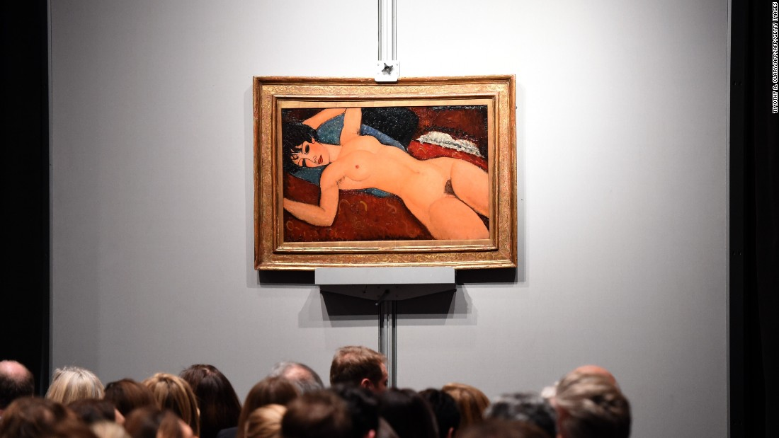 Appetite for Modigliani's work had already been on the rise when this rare nude came up for sale. The work's extraordinary provenance, literature and exhibition history added to its desirability, helping it set a new record for the artist -- and one of the highest prices ever set at auction -- when it sold at Christie's in November, 2015 to a Chinese billionaire bidding by telephone.