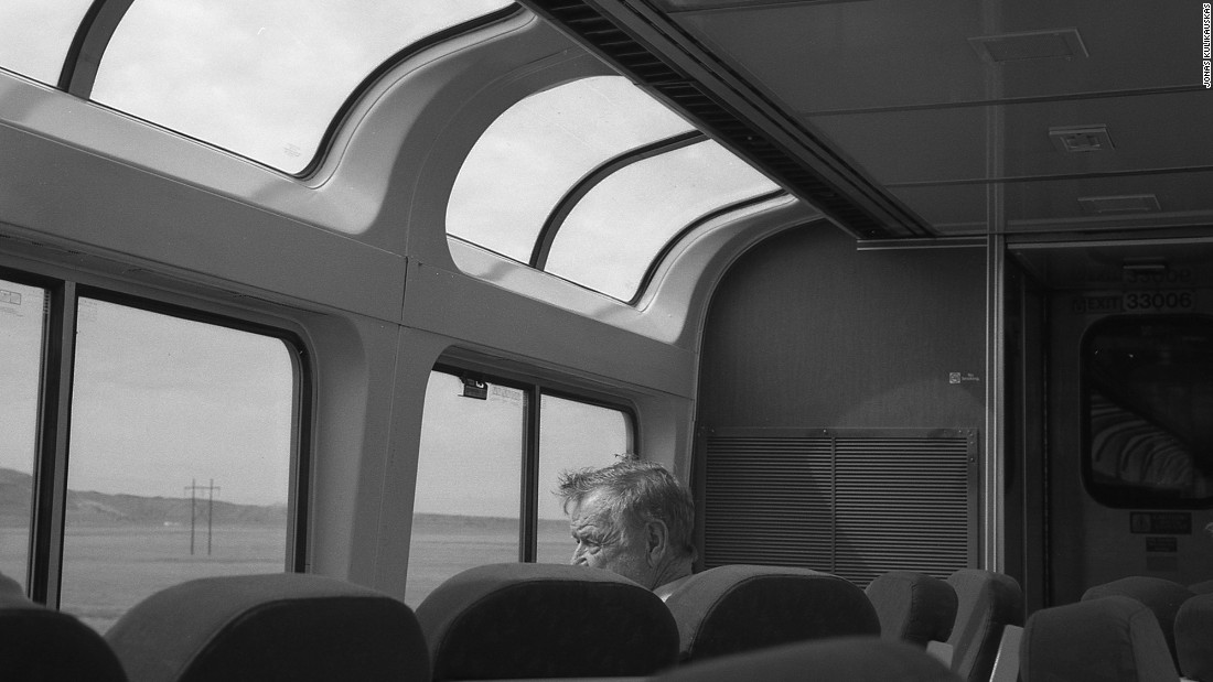 Aboard an Amtrak westbound Southwest Chief train.