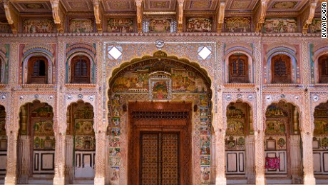 There are more than 2,000 painted havelis spread across India's Shekhawati region.