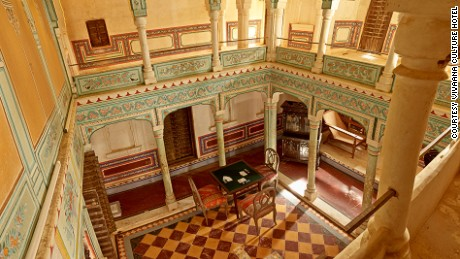 Vivaana Culture Hotel restored and preserved the original features of two havelis.