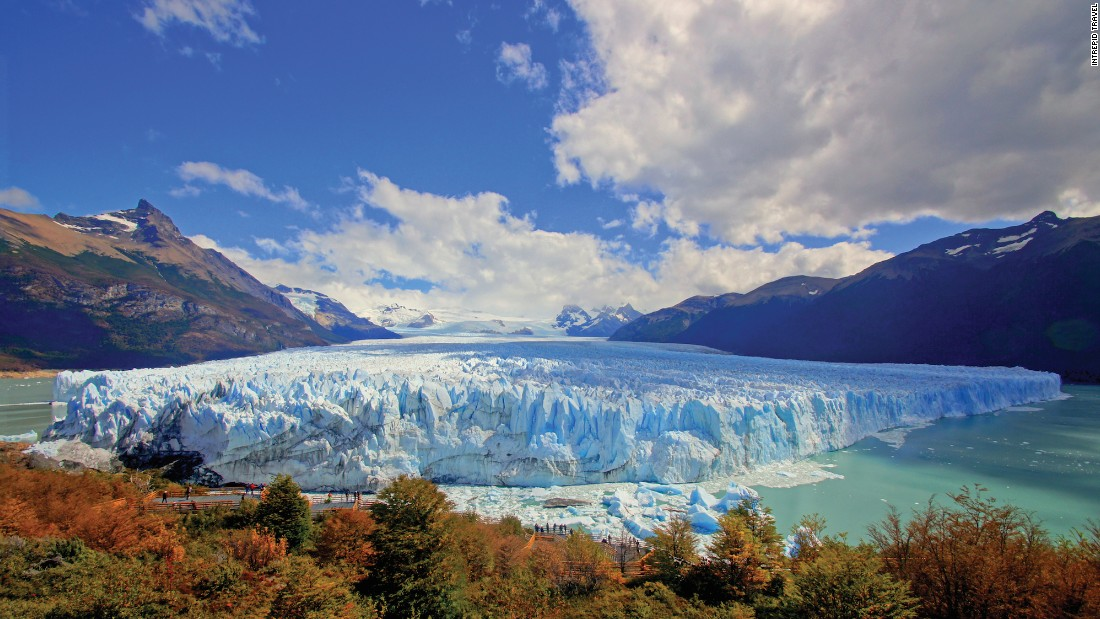 About 1.5 times the size of the UK, Patagonia straddles the border of Chile and Argentina. Argentina's dramatic Perito Moreno Glacier, pictured, is its 30-kilometer-long glacial centerpiece.