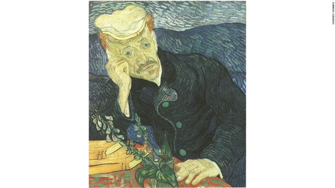 "Vincent van Gogh's ""Portrait of Dr. Gachet"" rocked the art world in 1990 when it sold to Tokyo's Kobayashi gallery for $82.5 million at Christie's-- more than twice the previous auction record. A portrait of Van Gogh's doctor, Paul-Ferdinand Gachet, of whom the artist was particularly fond, the painting had belonged previously to financier and philanthropist Siegfried Kramarsky, on long-term loan to the Metropolitan Museum of Art."