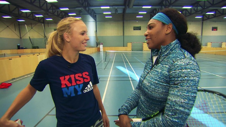 When Serena met Caroline: Tennis' friendly foes