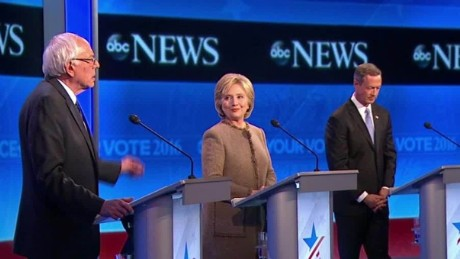 abc news democratic debate clinton sanders omalley  first lady bts_00003914