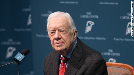 Jimmy Carter taken for observation after suffering from dehydration