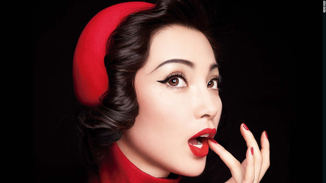 Li Bingbing poses for Chen Man in 2010 for Harper's Bazaar.