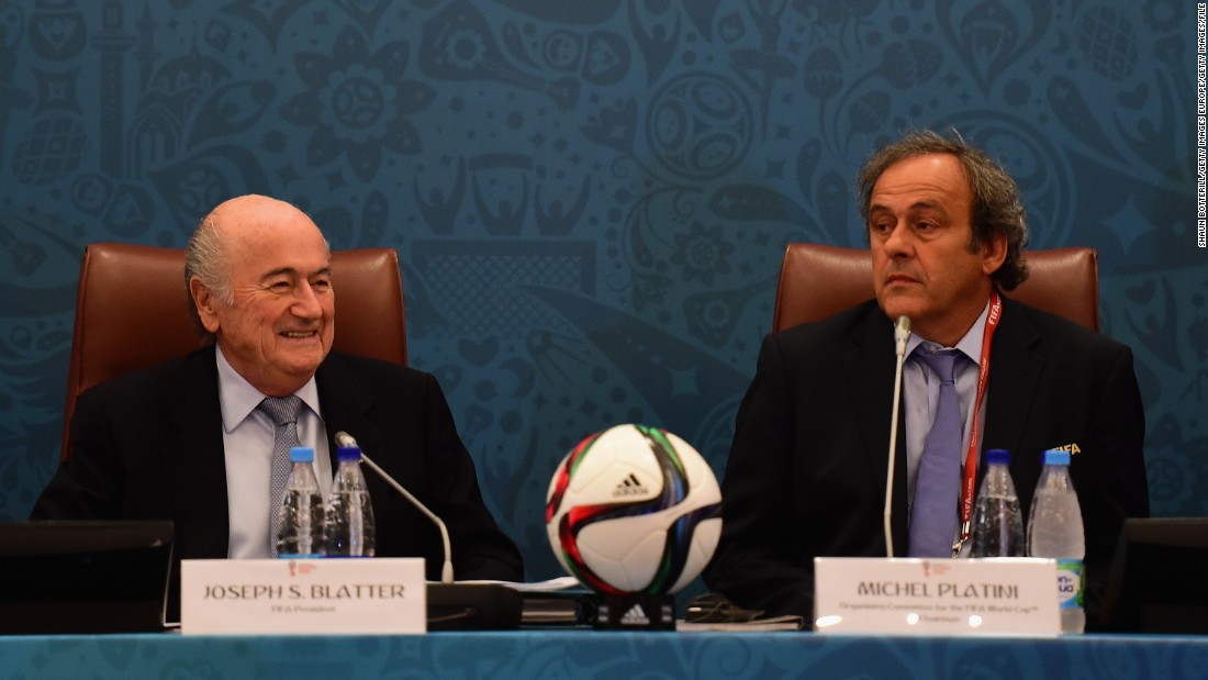 FIFA president Sepp Blatter and UEFA president Michel Platini are banned by FIFA's Ethics Committee for eight years. The ban relates to all football-related activity and is effective immediately.