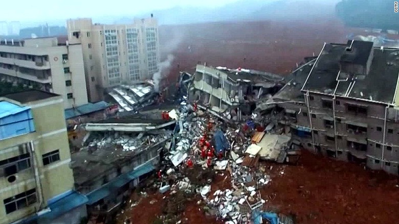 Desperate search underway after China landslide