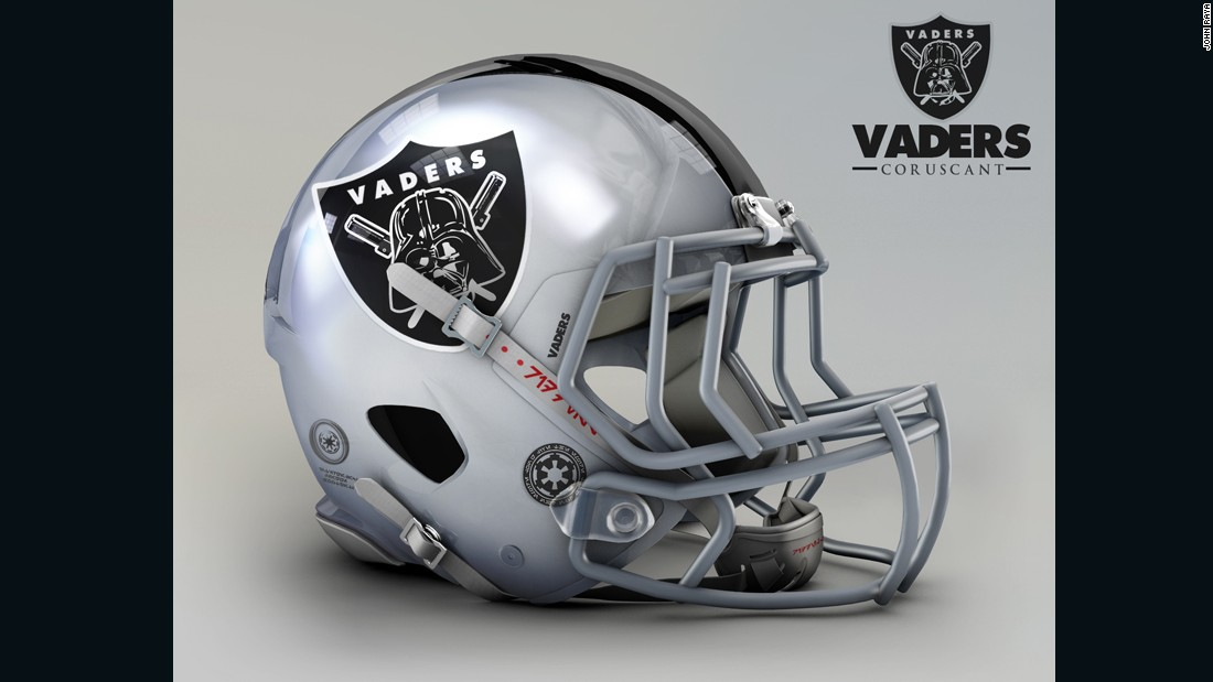 "What if NFL teams relocated to a galaxy far, far away? Would the Raiders become the Vaders? This galactic mashup - where NFL teams meet characters from the Star Wars universe - comes courtesy of Mexican designer <a href=""https://www.behance.net/johnraya"" target=""_blank"">John Raya</a>, who found a way to mix up his two greatest passions. The idea started with his favorite team, the <a href=""http://www.raiders.com/"" target=""_blank"">Oakland Raiders</a>, who experienced a very smooth transition to the Dark Side, becoming the Coruscant Vaders (if you're not a Star Wars geek, Coruscant is the home planet of Anakin Skywalker, who later becomes Darth Vader)."