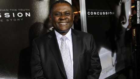 "Dr. Bennet Omalu at a screening of ""Concussion."""