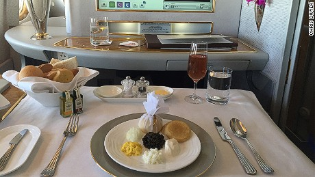 Just one of the 55 meals Emirates Flight Catering produces each year.