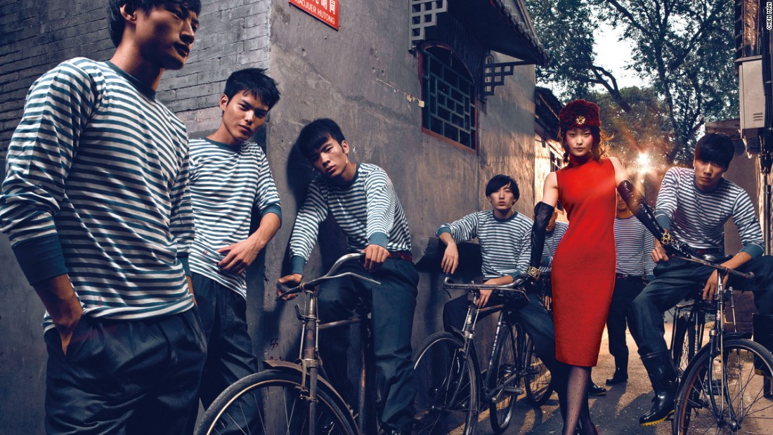 This photo for Vogue, entitled 'Long live the Motherland' was shot in 2009, in one of Beijing's historic alleyways, or hutongs.