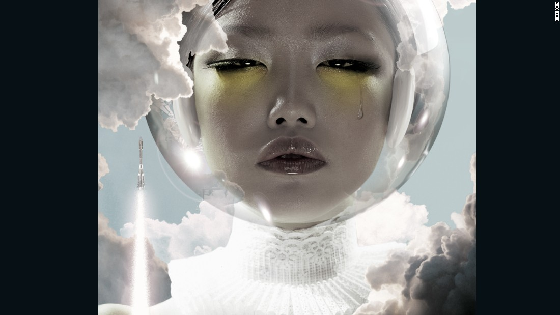 This portrait, 'Astronaut' was shot by Chen Man in 2003, for Vision magazine. It is now part of a collection at the V&A museum in the UK.
