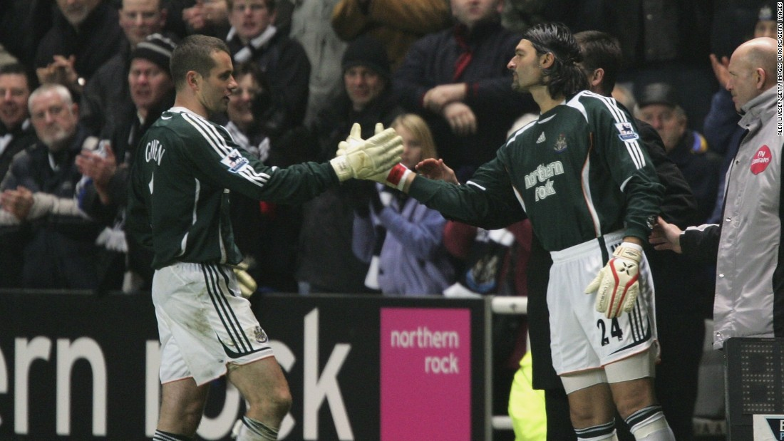 Srnicek enjoyed two spells at the English Premier League side Newcastle: the first from 1991-98 and the second between 2006-7. In total, he made over 150 appearances for the club.