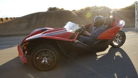 The three-wheeled Polaris Slingshot is technically a motorcycle.
