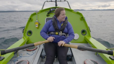 This woman rowed across the Atlantic