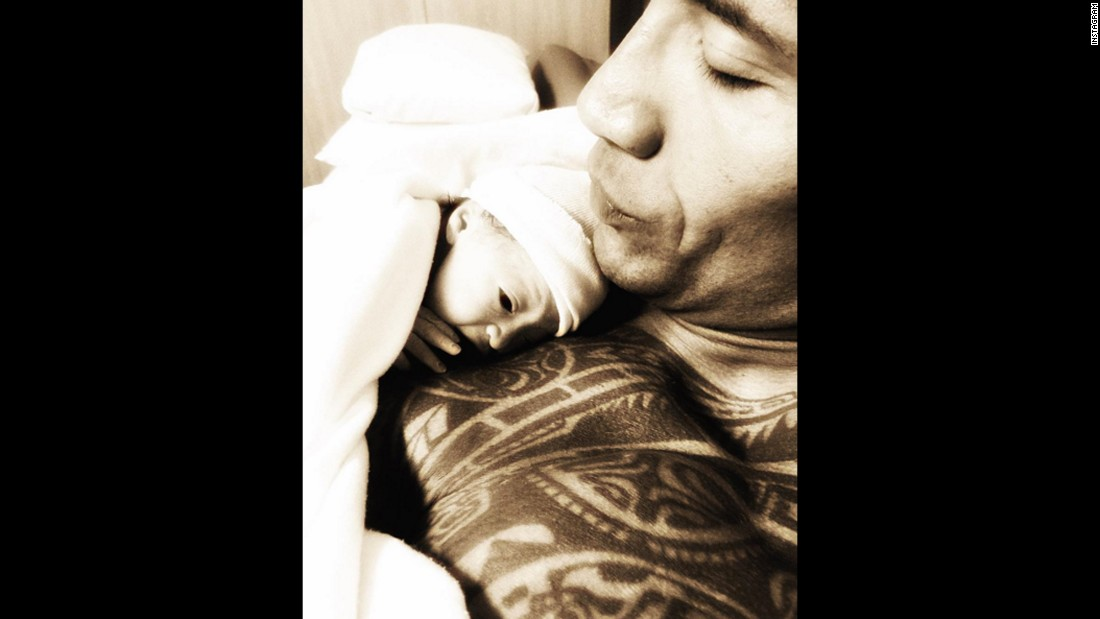 "Actor and wrestler Dwayne ""The Rock"" Johnson and his girlfriend, Lauren Hashian, welcomed new baby daughter Jasmine, into the world on December 16. ""Christmas came early! Within minutes of being born she was laying on daddy's chest,"" he wrote to his followers on Instagram. This is the couple's first child together and the second daughter for Johnson."