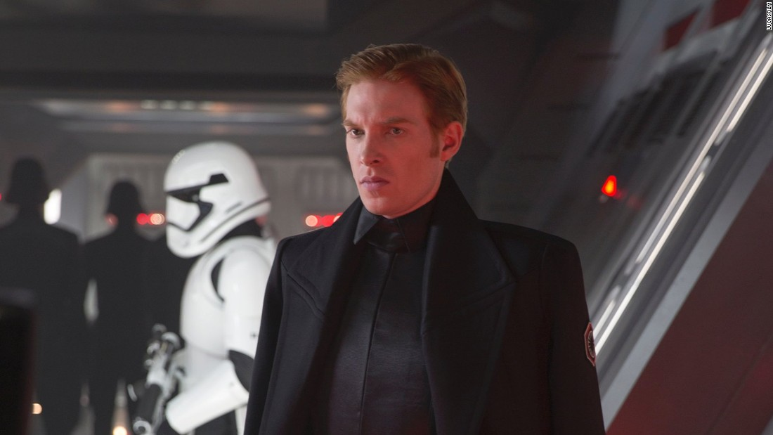 "<strong>General Hux</strong> (Domhnall Gleeson), a young but high-achieving officer in the First Order, the successor to the Empire. Gleeson, the son of actor Brendan, is prolific: in the past few years, he's had hits with ""Harry Potter,"" ""About Time,"" ""Brooklyn"" and ""The Revenant."""