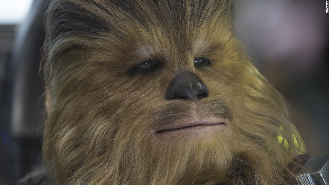 "<strong>Chewbacca</strong> (Peter Mayhew) returns, fresh from his last appearance in ""Episode III: Return of the Sith."" The 7-foot-2 actor's career has almost exclusively been spent playing the loveable Wookiee. He even appeared in ""Glee"" in the outfit in 2011."